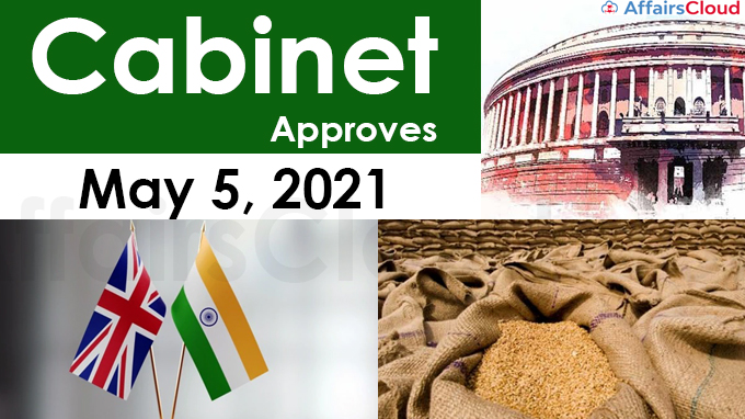 Cabinet Approval on May 5, 2021