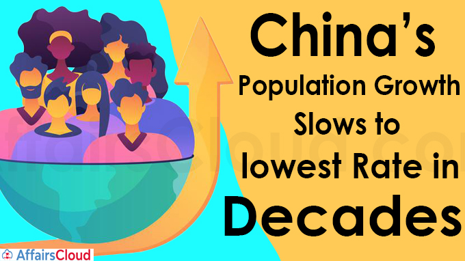 China's population growth slows to lowest rate in decades