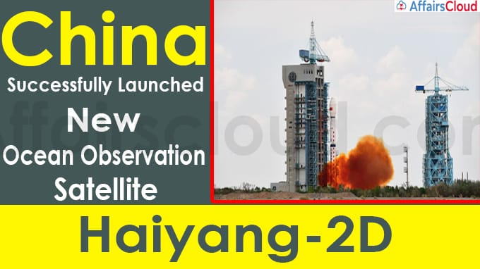 China successfully launches new ocean observation satellite Haiyang-2D