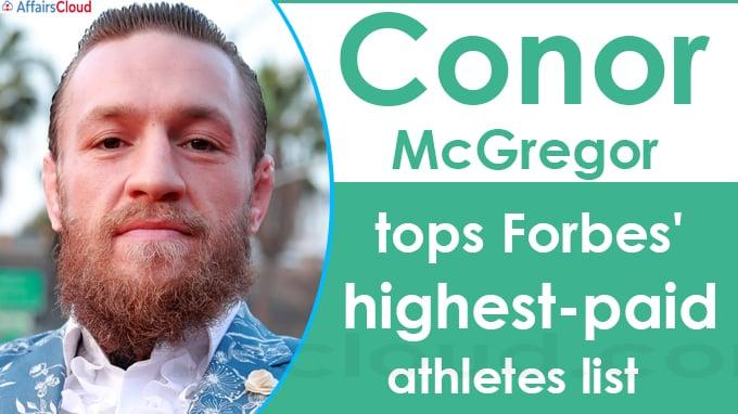Conor McGregor tops Forbes