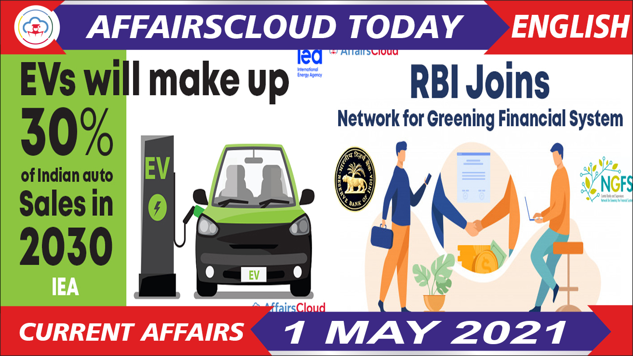 Current Affairs 1 May 2021 English