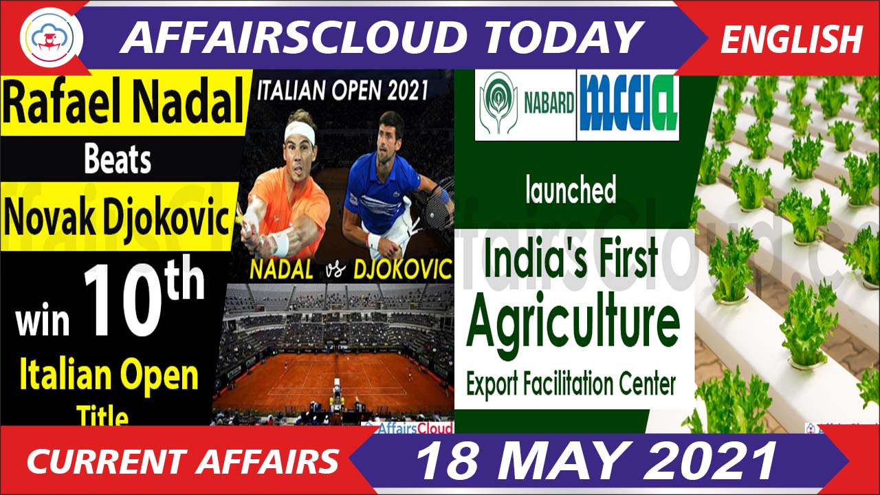 Current Affairs 18 May 2021 english