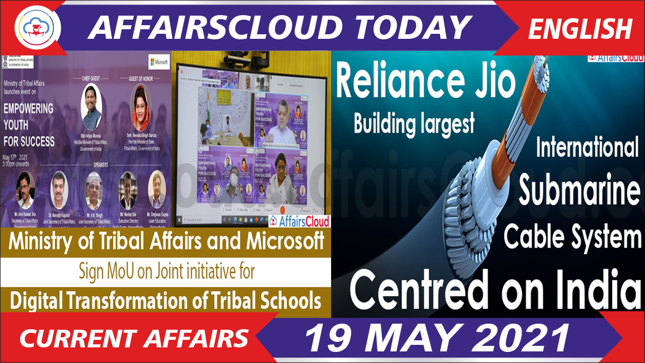 Current Affairs 19 May 2021 english