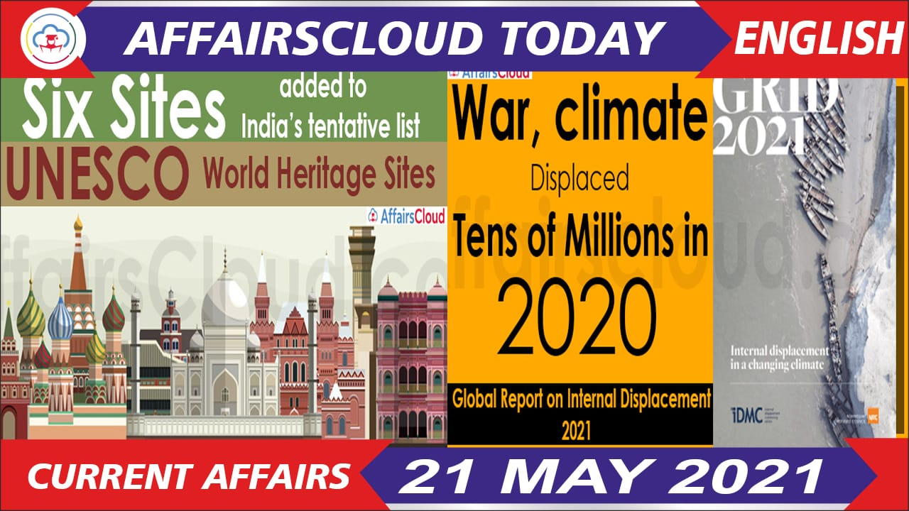 Current Affairs 21 May 2021 English