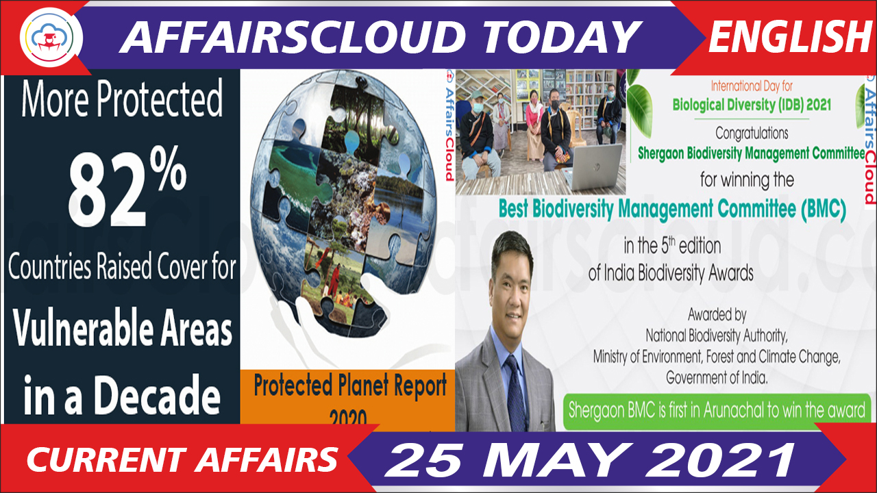 Current Affairs 25 May 2021 English