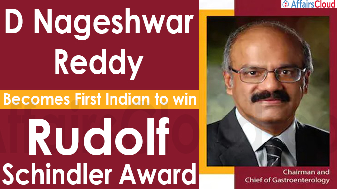D Nageshwar Reddy becomes first Indian to win Rudolf Schindler Award