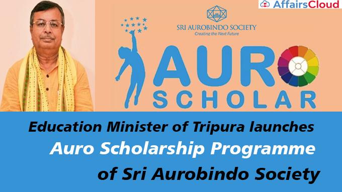 Education-Minister-of-Tripura-launches-Auro-Scholarship-Programme-of-Sri-Aurobindo-Society