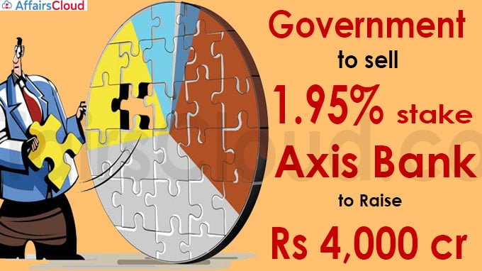Government to sell 1-95% stake in Axis Bank to raise