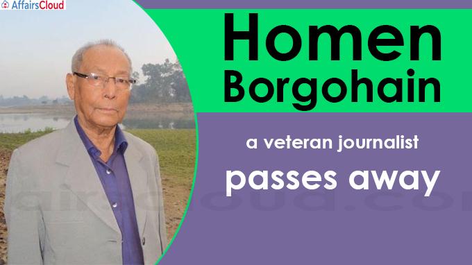 Homen Borgohain, a veteran journalist and Sahitya Akademi
