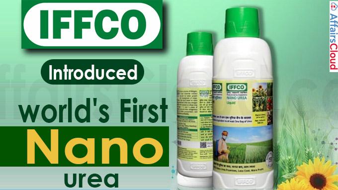 IFFCO introduces world's first nano urea