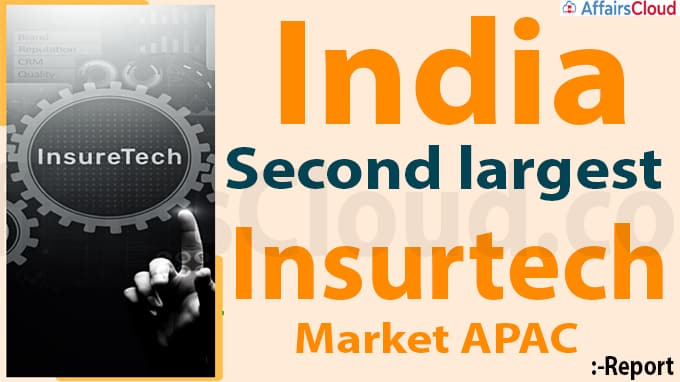 India second largest insurtech market in APAC