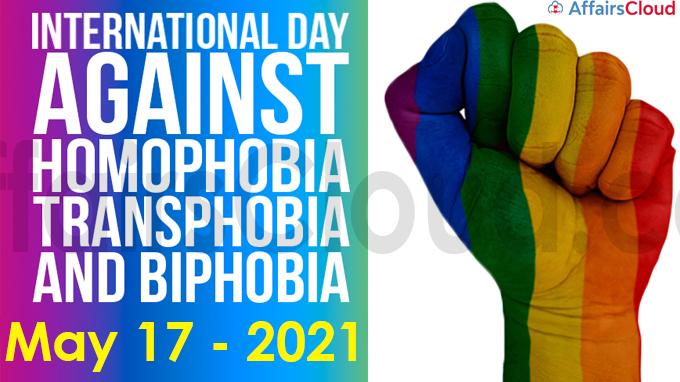 International Day Against Homophobia, Transphobia and Biphobia 2021