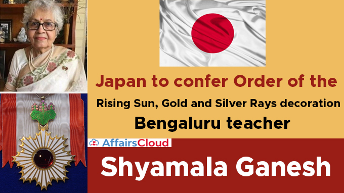 Japan-to-confer-Order-of-the-Rising-Sun,-Gold-and-Silver-Rays-decoration-to-Bengaluru-teacher-Shyamala-Ganesh