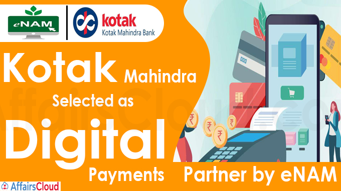 Kotak Mahindra selected as digital payments partner by eNAM
