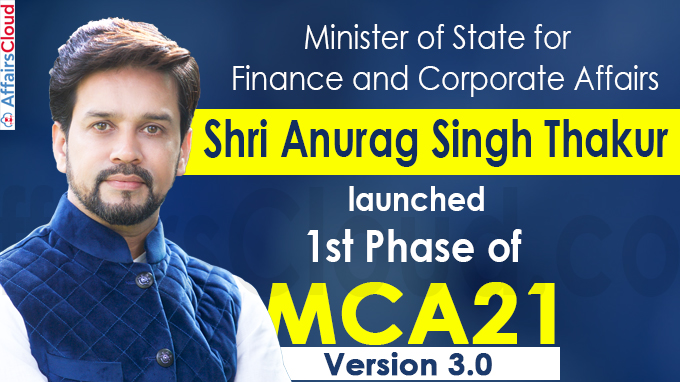 Minister of State for Finance and Corporate Affairs Shri Anurag Singh Thakur