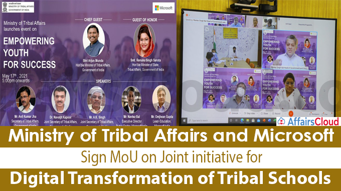 Ministry of Tribal Affairs and Microsoft sign MoU