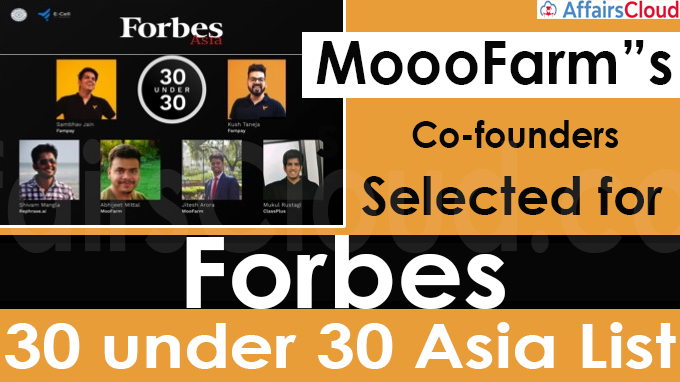 """MoooFarm""""s Co-founders selected for Forbes 30 under 30 Asia List"""