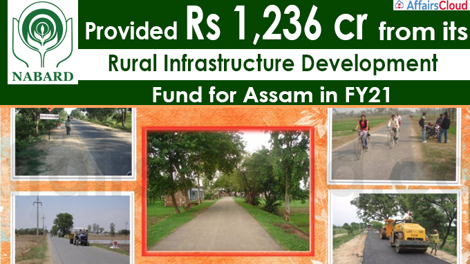 NABARD provided Rs 1,236 crore from its Rural Infrastructure