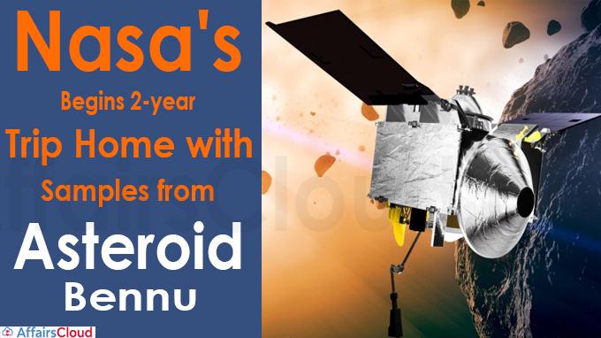 Nasa's Osiris-Rex begins 2-year trip home