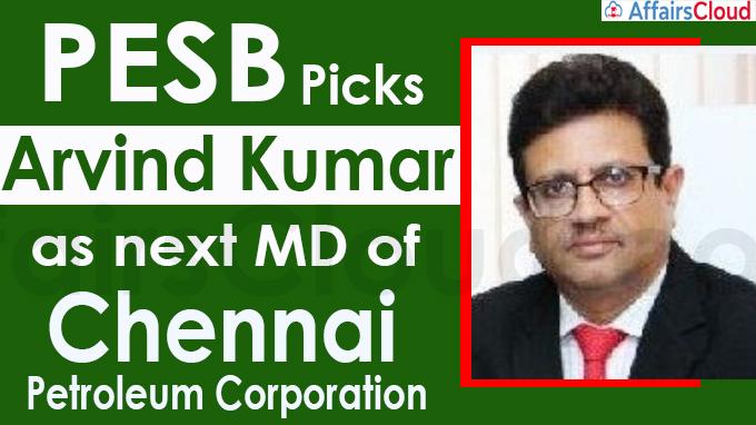 PESB picks Arvind Kumar as next MD