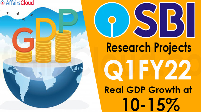 SBI research projects Q1FY22 real GDP growth