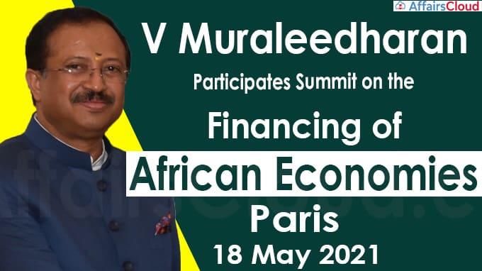 V Muraleedharan participates Summit on the Financing