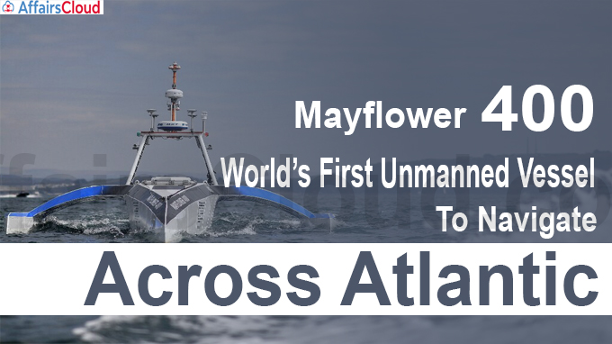 World's First Unmanned Vessel To Navigate Across Atlantic