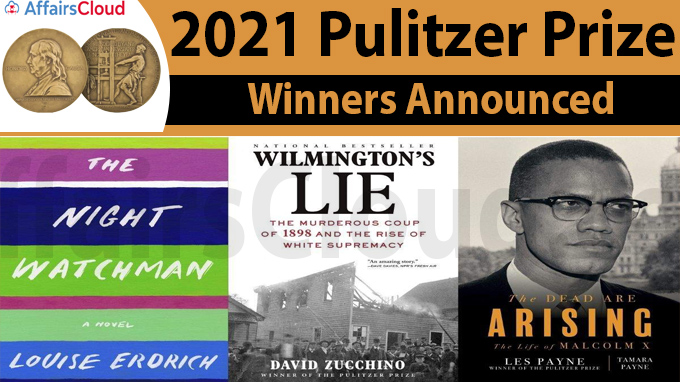 2021 Pulitzer Prize winners announced