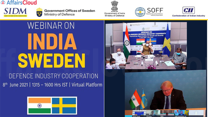 An MoU signed between Society of Indian Defence Manufacturers and Swedish Security and Defence Industry Association