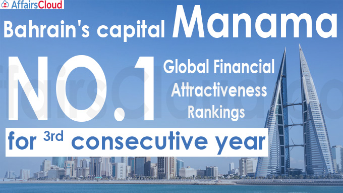Bahrain tops Global financial attractiveness rankings for 3rd consecutive year