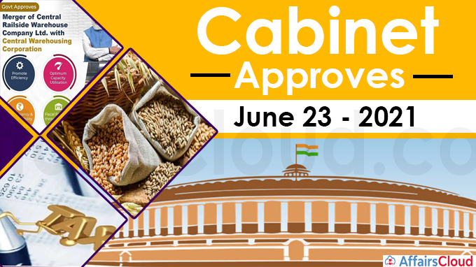 Cabinet Approval on June 23, 2021