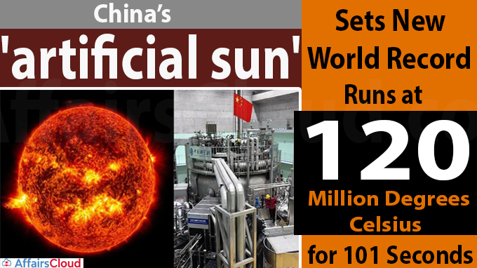 China's 'artificial sun' sets new world record