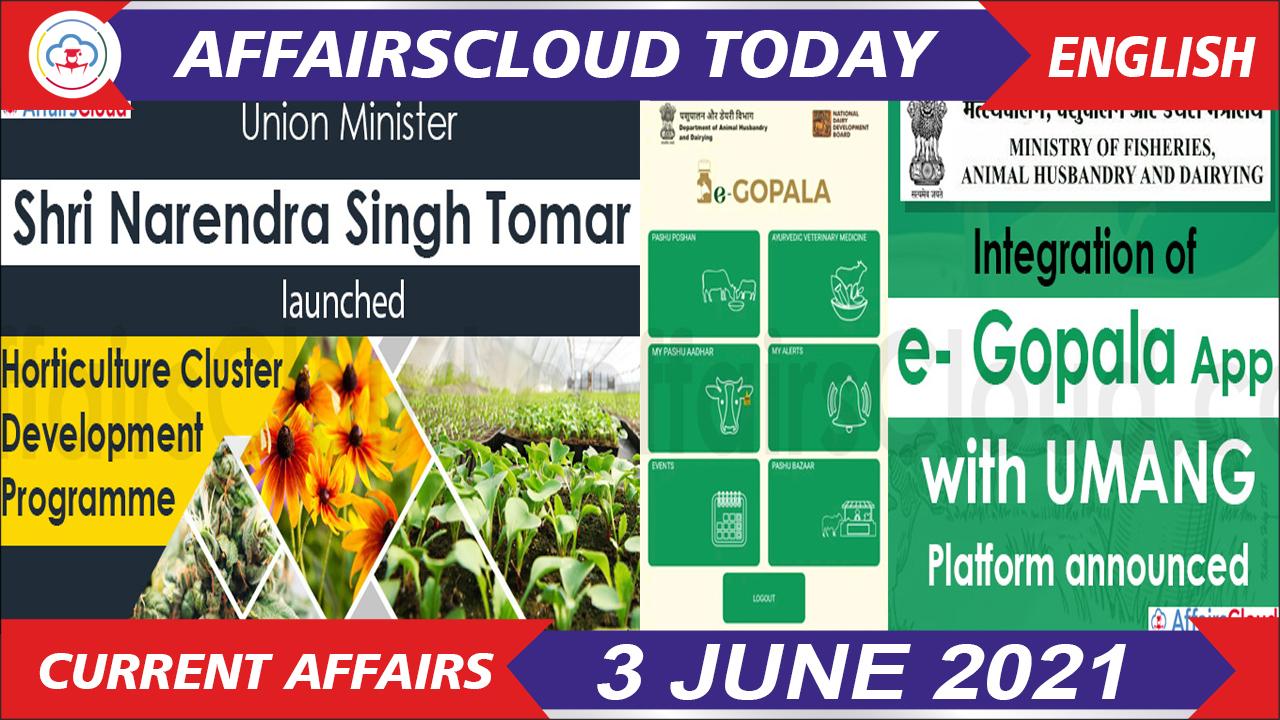 Current Affairs 3 June 2021 english