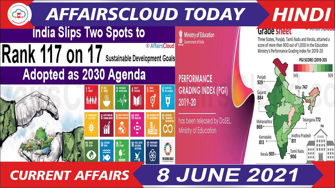 Current Affairs 8 June 2021 Hindi