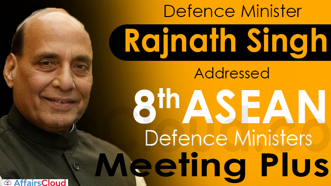 Defence Minister Rajnath Singh addresses 8th ASEAN Defence Ministers