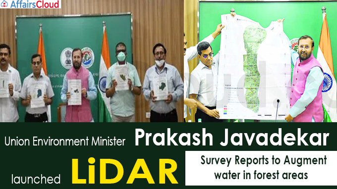 Govt launches LiDAR survey reports to augment water in forest areas