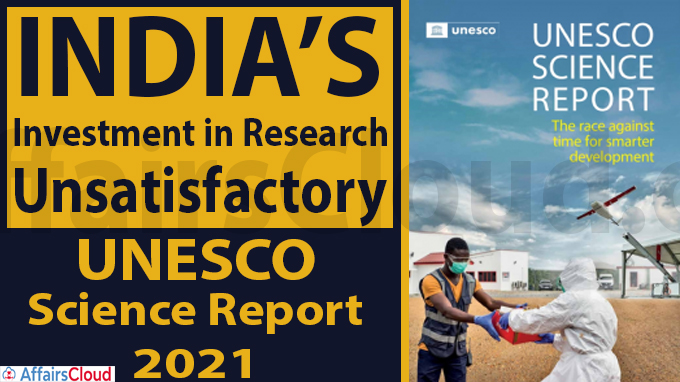 India's investment in research unsatisfactory