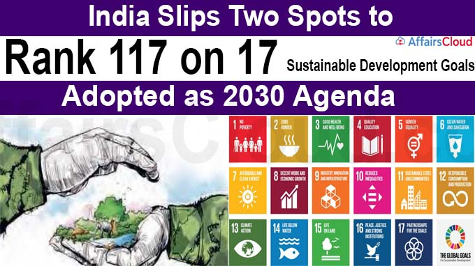 India slips two spots to rank 117 on 17 Sustainable Development Goals