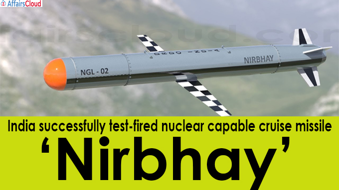 India successfully test-fired nuclear capable