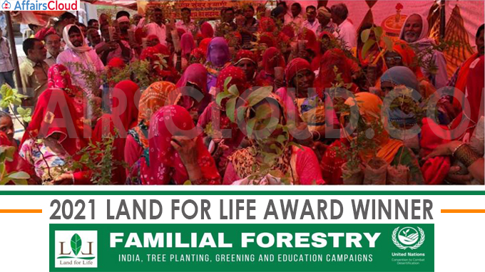 Indian Environmental organisation Familial Forestry wins