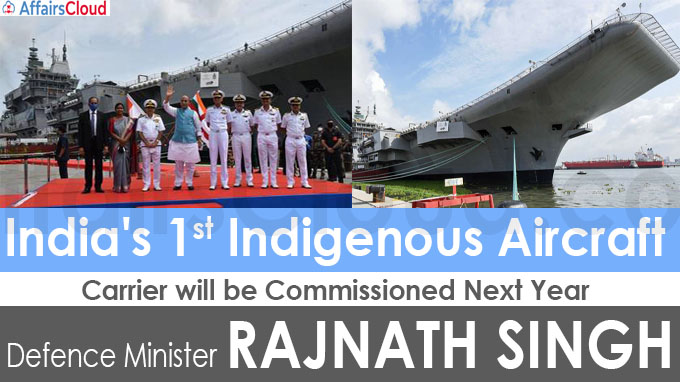 India's 1st indigenous aircraft carrier will be commissioned next year