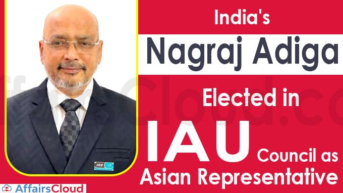 India's Nagraj Adiga elected in IAU Council as Asian representative (1)