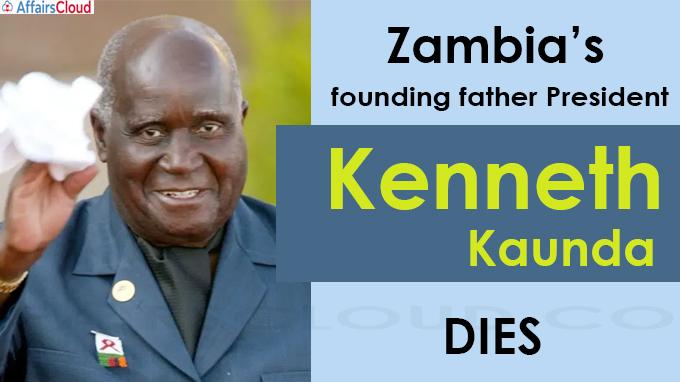 Kenneth Kaunda dies aged 97
