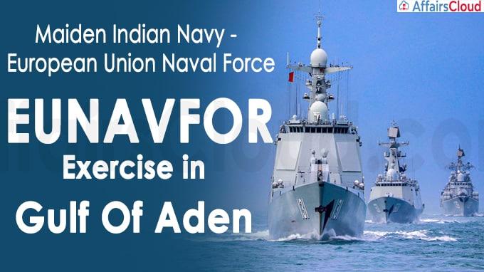 Maiden Indian Navy - European Union Naval Force (EUNAVFOR) Exercise