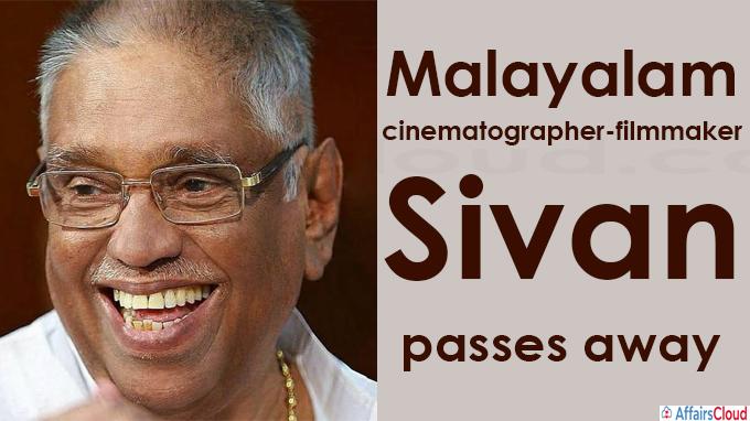 Malayalam cinematographer-filmmaker Sivan passes away at 89