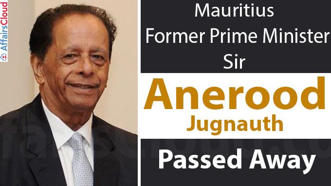Mauritius former prime minister Sir Anerood Jugnauth dies