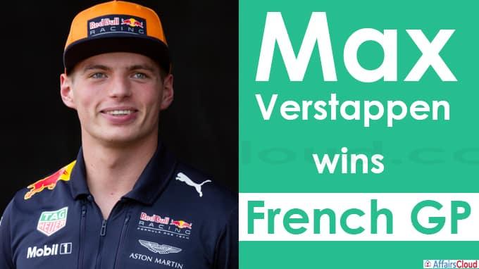 Max Verstappen wins French GP