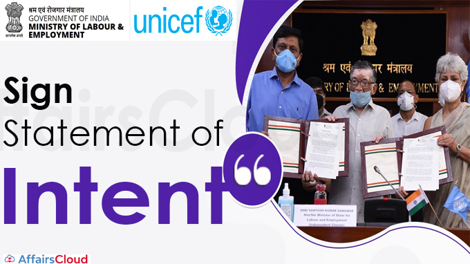 Ministry of Labour and Employment and UNICEF Sign Statement