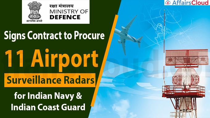 MoD signs contract to procure 11 Airport Surveillance Radars