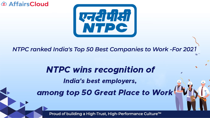NTPC-wins-recognition-of-India's-best-employers,-among-top-50-Great-Place-to-Work